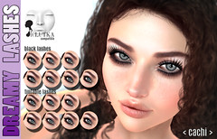 <cachi> Dreamy Lashes for LELUTKA (Alanis Sapphire) Tags: longlashes eyelash eyelashes lelutka long makeup short lashes applier marketplace only 7 textures tintable