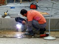 The Welder (Wookey Hole) Tags: welder worker arcwelding construction