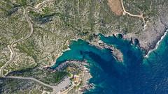 Porto Limnionas landscape aerial Zakynthos