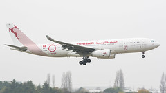 Tunis Air TS-IFM A330-200 landing in diabolical weather at Paris Orly Airport. This was the first of two A330's for the airline. (Yazn Achtar) Tags: subhanallah beautiful beautifulshot beauty beautifulsky beautifulphoto beautifullivery beautifullight beautifulaircraft beautifulbackground photographyatitsbest planespotter planespotting photography photooftheday planes photograhyatitsbest paris panning tunisair tunis carthage orly parisorly nikonphotography nikon airbus a330 a332 a330200 salam