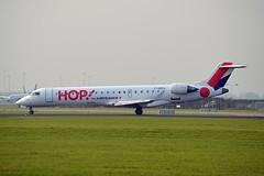 Hop! F-GRZJ Bombardier CRJ-701 (CL-600-2C10) cn/10096 @ Aalsmeerbaan EHAM / AMS 04-11-2017 (Nabil Molinari Photography) Tags: hop fgrzj bombardier crj701 cl6002c10 cn10096 aalsmeerbaan eham ams 04112017