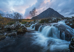 When the Sunset Comes (stefanblombergphotography.com) Tags: clouds colorful glencoe highlands landscape light mountain nature outdoor river rock scotland sky softlight stefanblombergphotography tree water waterfall color wwwstefanblombergphotographycom