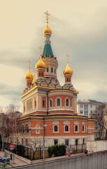 Kirche zum Heiligen Nikolaus (try...error) Tags: church russian orthodox vienna wien gold golden cross green bricks architecture building architektur