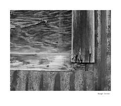 Rough Corner (agianelo) Tags: panel board metal rust bw bn blackandwhite texture abstract
