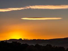 Longshaw Sunset (Peter Quinn1) Tags: sunset landscape longshawestate derbyshire silhouette lenticular cloud