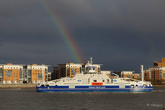 New Woolwich Ferries, Woolwich, south London, Monday, Nov. 19, 2018. (olliepix) Tags: dame vera lynn woolwich ferry south london river thames monday nov 2018 19