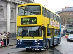 Dublin Bus RH134 (92D134). (Fred Dean Jnr) Tags: april2005 dublin dublinbus busathacliath dublinbusyellowbluelivery leyland olympian alexander r dublinbusroute123 rh134 92d134 collegegreendublin shill
