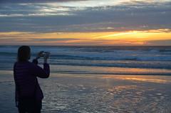 Capturing the sunset (afagen) Tags: california pacificgrove asilomarstatebeach montereypeninsula asilomar beach pacificocean ocean sunset dusk photography phone samsung smartphone