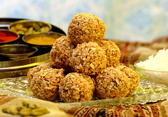Indian Cardamom Spiced Coconut Ladoo (Eat With Your Eyez) Tags: indian sweets ladoo baked goods dessert cardamom coconut condensed milk holiday holi bakery special