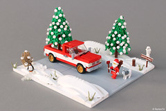 Santa is looking for the right Christmas tree