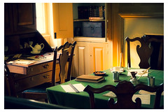 Green Tablecloth and Desk - Washington House - Valley Forge, PA - USA _Web 1_Scaled (johann.kisaame) Tags: americanhistory angles antique architecture books building chair contrast historicsites interiordesign light luminance museum pennsylvania philadelphia philadelphiasuburbs shadows sunlight tabletop valleyforge vintage windows woodwork cabinets ceramics chairs desks documents furniture glasses historic historical historicaldocuments history inkwell interior shelves table teapot traditional window topf25