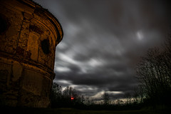 Holy ghost and grave (Caradoc_loty) Tags: chappel clouds sky night