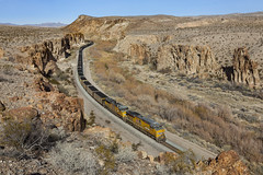 A Shot Long Desired (zwsplac) Tags: uprr union pacific railroad train coal meadow valley wash nevada farrier lasl desert water winter dry huntsman canyon rocks caliente subdivision