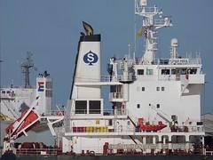 Spar Mira & ES Leader (Das Boot 160) Tags: sparmira bulker esleader ships sea ship river rivermersey port docks docking dock boat boats maritime mersey merseyshipping
