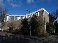 Nebokerk (1966) Rotterdam (Karl Marxbuurt) (Kvnivek) Tags: netherlands zuidholland rotterdam church kerk blue sky clouds