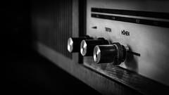 Tiefen und Höhen (Thomas TRENZ) Tags: music abstract blackwhite broadcast deep height lautsprecher lautstã¤rke mechanics monochrome musik old radio schwarzweiss sounds speaker technic technik technology value wireless