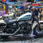 Harley-Davidson motorbike at the 35th Thailand International Motor Expo at IMPACT Challenger hall in Muang Thong Thani, Nonthaburi, Thailand thumbnail