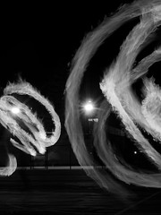 Shadow of a Man (elektron9) Tags: agameofthrows palyjugglingclub juggling fire poi poispinning performance club lights firespin performanceart firepoi dance swinging longexposure nighttime night california paloalto ca cali westcoast us usa dark afterdark bandw blackandwhite black white gray spotlight abstract