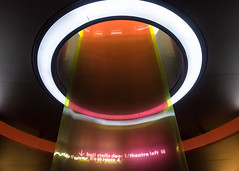 Borrowed Light at the Barbican (Spannarama) Tags: lookingup troika borrowedlight artinstallation art ceiling light circle barbicancentre barbican london uk