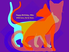 Happy Birthday, to my Darling Grandson, Niko (soniaadammurray - On & Off) Tags: art myart contemporaryart visualart experimentalart abstractart cats birthday celebration love family goodwishes happiness tribute artchallenge