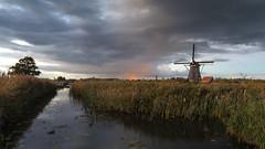 Autumn evenings In Kinderdijk (Wim Boon Fotografie) Tags: kinderdijk wimboon canoneos5dmarkiii canonef1635mmf4lisusm sunset holland nederland netherlands leefilternd09softgrad leelandscapepolariser windmill molen unescoworldheritage