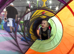 Ash Day 691 (evaxebra) Tags: ash tunnel climb weplayloud we play loud playground indoor colorful