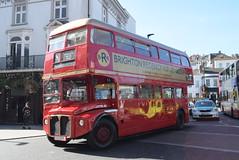 BH RML2333 @ Brighton train station (ianjpoole) Tags: brighton hove aec routemaster cuv333c rml2333 passing train station