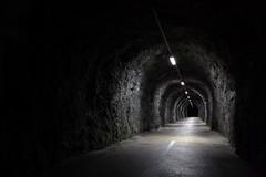 into uncertain (bkellerstrass) Tags: tunnel night nightshot dark light electricity fels rock fluchtpunkt point vanishing alps lamps