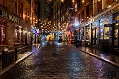 Reflections on Stone Street (Edwin Wagner) Tags: nyc stonestreet night longexposure reflections manhattan streetscape