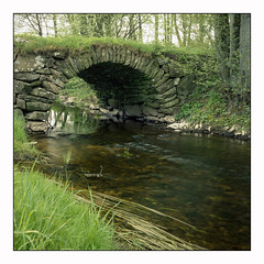 The old Bridge - Agfa RSX 100 exp* (magnus.joensson) Tags: sweden swedish skåne spring may bridge rolleicord v 6x6 medium format agfa agfachrome rsx 100 epson v800 scan e6