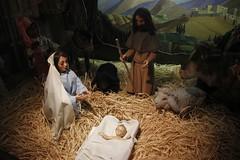 Happy Christmas (Paul McNamara) Tags: movingcrib parnellsquare dublin ireland puppets babyjesus straw mary animals village