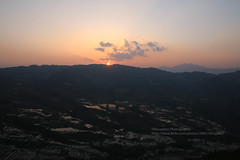 Yuanyang Terraces, Bada area, sunset (blauepics) Tags: china yunnan province provinz yuanyang landscape landschaft nature natur scenery rice terraces reisterrassen terrassen mountains berge water wasser unesco world heritage site weltkulturerbe farming agriculture landwirtschaft farmers bauern minorities minderheiten bada view aussicht panorama light licht sunset sun sonne sonnenuntergang clouds wolken orange