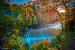 Autumn Sunset (Frӓncis) Tags: landscape waterfalls fflomair 5dsr sunset autumn michigan river upperpeninsula rrs canon puremichigan