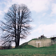 X-pro: Charlottenlund Fort (LarsHolte) Tags: c330 mamiya mamiyac330 tlr twinlensreflex twinlens mamiyasekor 65mm f35 6x6 square squareformat 120 film 120film analog analogue fuji provia 100 100iso mediumformat filmforever filmphotography larsholte homeprocessing xpro crossprocessed jobo autolab atl1500 digibase c41 color colour kokkedal danmark denmark charlottenlund fort