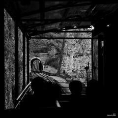 De ponts en tunnels. (Un jour en France) Tags: carré square monochrome train rail pont contrejour noir noiretblanc noiretblancfrance tunnel canoneflenses