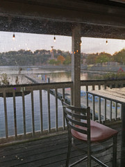 Through the Screen (BKHagar *Kim*) Tags: bkhagar harbor marina water boat boats florence al alabama florenceharbormarina screen porch table dining stanfieldsriverbottomgrille river