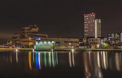 Terneuzen (Eugène56) Tags: hdr longexposure terneuzen nighttime cityscape townhall reflections