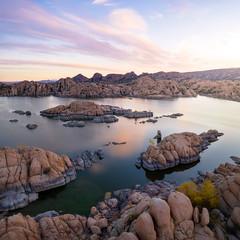 Watson Lake-0365-Pano-Edit (Michael-Wilson) Tags: watsonlake watson prescott arizona michaelwilson sunrise lake aerial drone djimavic mavicpro2