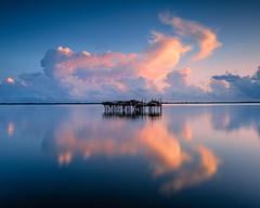 Lesina lake, sunrise. (masdamb) Tags: reflections water sunrise clouds landscape filters leefilters lee cankn longexposure lake lesina