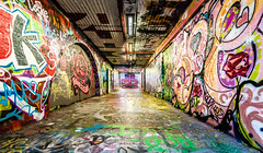 Graffiti Tunnel (Martin Snicer Photography) Tags: graffiti tunnel colour color sydney sydneyuniversity wideangle canon 70d 1018mm