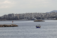 Athens Harbor (mopics347) Tags: travel greece canon 70d athens boat water harbor port blue outdoor