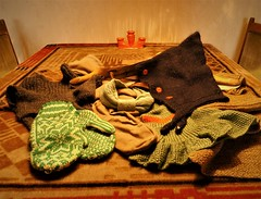 Ready for the winter (Jo Hedwig Teeuwisse) Tags: cat sleeping sleep vintage retro cloves mittens scarf