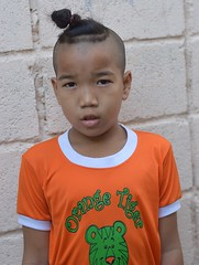 orange tiger with top knot (the foreign photographer - ฝรั่งถ่) Tags: orange tiger top knot khlong portraits bangkhen bangkok thailand nikon d3200