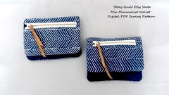 Vegan style minimalist zipper pouch / wallet sewing pattern (STORY QUILT) Tags: easy sew minimalist vegan style digital pdf wallet sewing pattern tutorial zipper zip bag pouch purse story quilt