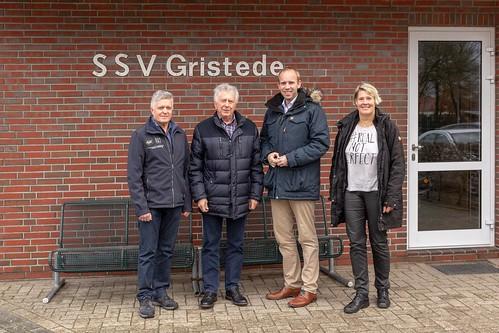Beim SSV Gristede habe ich mich über die Arbeit des Vereins informiert.