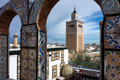 Al-Zaytuna (pietkagab) Tags: alaytuna minare mosque tunis tunisia north northern africa tower decoration sky morning building architecture arab arabic sahel pietkagab photography pentax pentaxk5ii piotrgaborek travel trip tourism sightseeing adventure city medina centre