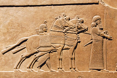 Assyrian art at the British Museum (archidave) Tags: ashurbanipal britishmuseum assyria assyrian art relief sculpture horse rider hunt