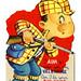 Vintage Child's Valentine Card - I Aim To Make You My Valentine, Made In USA, Circa 1950s