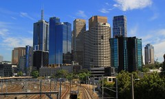 Melbourne City Scene (9) (F) (Richard Collier - Wildlife and Travel Photography) Tags: australia melbourne city skyscrapers architecture buildings cityscape