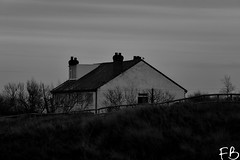 Dark Cottage (frisiabonn) Tags: building house cottage meolsparade meols old britain beach waterfront sea country uk england merseyside wirral monochrome bw black white greyscale